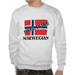 100 Percent NORWEGIAN Pull Over Sweatshirts