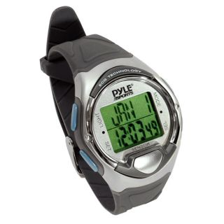 New Pyle Digital Heart Rate Monitor Watch w Finger Touch Calorie