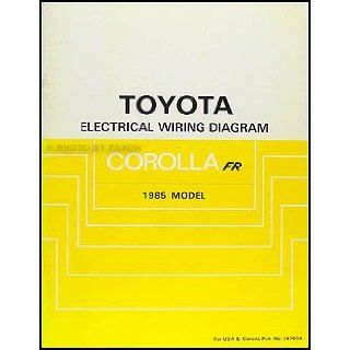 1985 Toyota Corolla RWD Wiring Diagram Manual Original GT S SR5