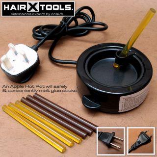 New Mini Keratin Glue Stick Melt Hot Pot for Hair Extensions U or Flat