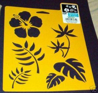Hibiscus Stencil Leaf Hawaiian Stencils Tropical New