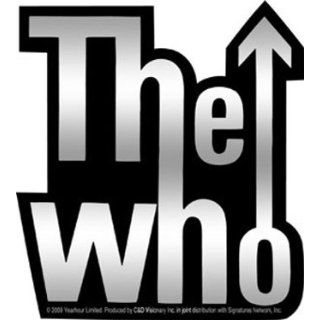 The Who   Shiny Silver & Black Arrow Logo   4.25 x 4.25 British Rock