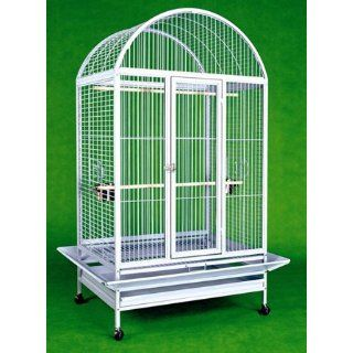 Large Wrought Iron Bird Cage Parrot Cages Macaw Dometop 36