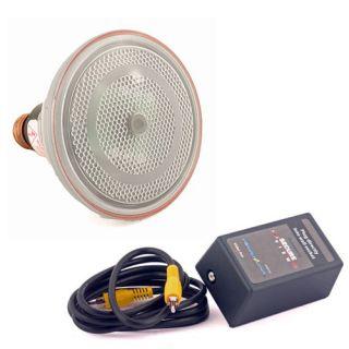Video Camera Flood Light Bulb Hidden Surveillance Security Cam IR