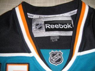 San Jose Sharks 15 Dany Heatley NHL Reebok Home Premier Jersey Large