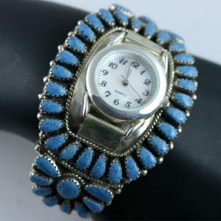 Native American Jewelry Lapis Silver Cuff Watch