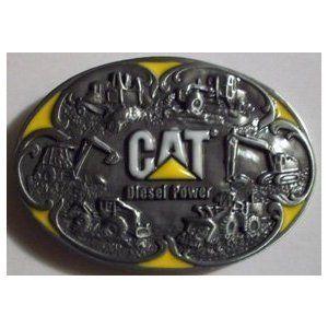 Cat Caterpillar Diesel Heavy Equipment Belt Buckle Redneck Trucker