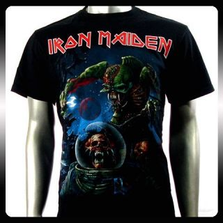 Iron Maiden Heavy Metal Rock Men Punk T Shirt Sz M