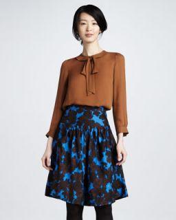 T54EG MARC by Marc Jacobs Onyx Floral Print Skirt