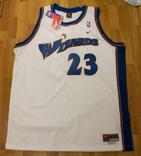 Air Jordan Washington Bullets Wizards Jersey White Blue 2XL 2