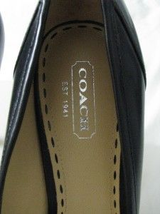 Camille Black Leather Buckle Pumps High Heel Shoes NIB 8 M New w Box