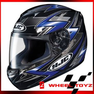 HJC CS R2 Thunder Blue Full Face Motorcycle Helmet Size x Large