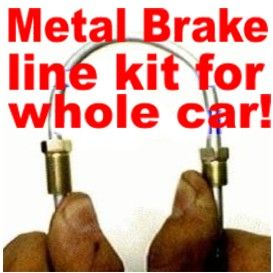 Complete Metal Brake Line Kit for AMC Rambler 1957 1976 Replace Rusted