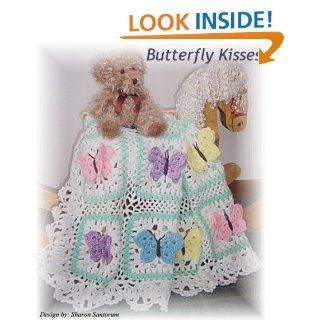 Butterfly Kisses baby afghan or blanket crochet pattern: Sharon