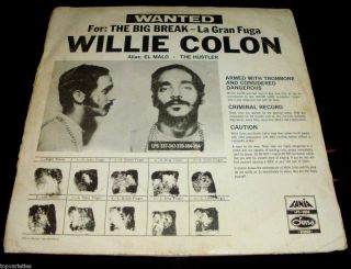 Willie Colon Hector Lavoe La Gran Fuga Color Vynil RARE Dinsa Label