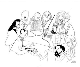Vladimir Horowitz Limited Edition Hand Signed Al Hirschfeld