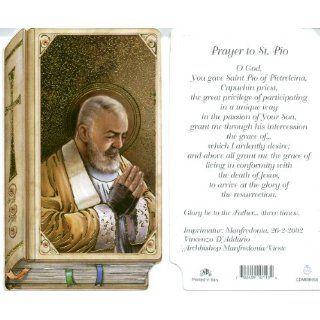 Saint Padre Pio Holy Prayer Card Bible Shaped Everything
