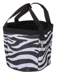 Zebra Print Horse Grooming Caddy Tote Bag Carrier Tools