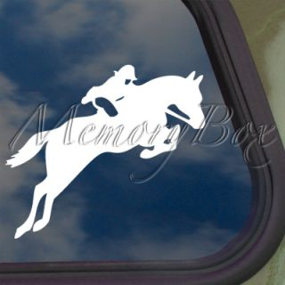 Horse Jumping Decal Car Truck Bumper Window Sticker