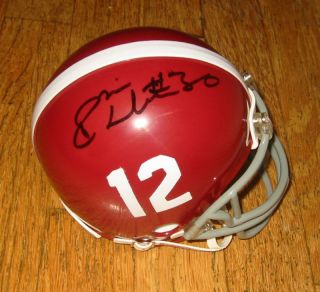 DontA Hightower Signed Alabama Crimson Tide Mini w COA