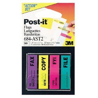 3M Post it(R) Printed Action Flag Set, Pack Of 4 Pads