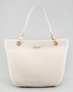 bag cream available in cream $ 355 00 eric javits squishee clip tote