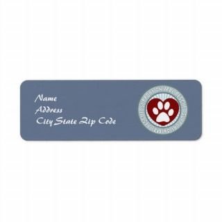 Support Animal Rescue Return Address Labels
