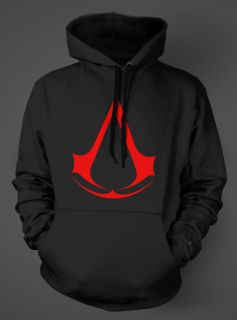 ASSASSINS CREED Hoodie   Black Sweat Shirt   ASSASSINS Xbox 360 PS3