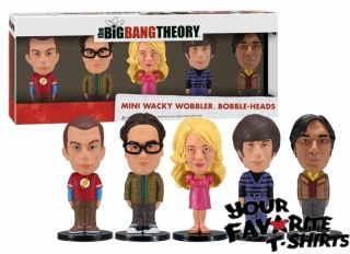 The Big Bang Theory Mini Bobble Head Set Sheldon Penny Raj Howard