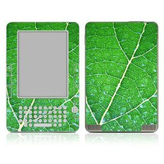 Kindle DX Skin Decal Sticker   Green Leaf Texture