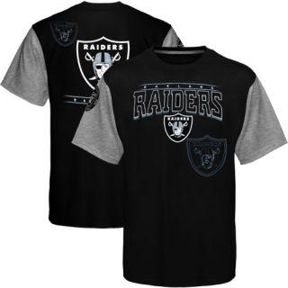 Oakland Raiders Hardknock Premium T Shirt Black Ash