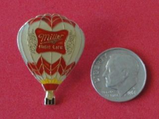Miller High Life Hot Air Balloon Beer Enamel Metal Pin