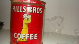 Hills Bros Coffee 8 Circa 1936 Vintage Red Can Brand
