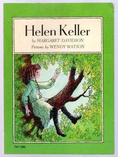 Helen Keller by Margaret Davidson Wendy Watson 1969 PB NM