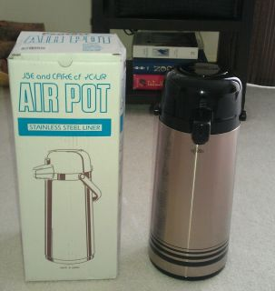 Peacock Air Pot Hot Cold Beverage Dispenser