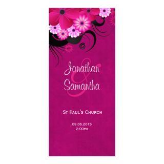Fuchsia Mauve Elegant Custom Wedding Programs Customized Rack Card
