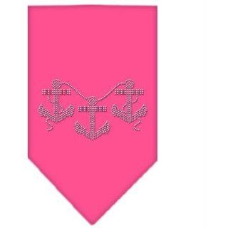 Anchors Rhinestone Bandana Bright Pink Large   Case Pack