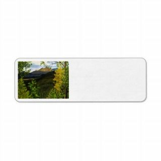 Estes Park Oil Landscape Painting Custom Return Address Label