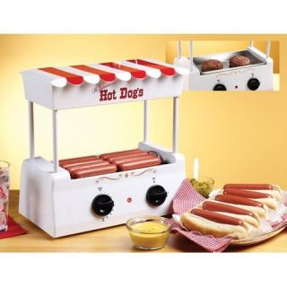 Nostalgia Electrics Old Fashioned Hot Dog Cooker Maker Roller NIB