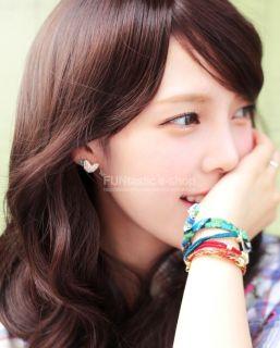 New Hot Korean Stone Earring Deep Love Handmade Earrings Made in Korea