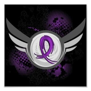 Purple Ribbon And Wings Lupus Posters