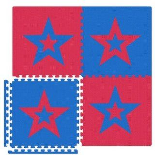 Star Set in Red / Royal Blue Size 20 x 40