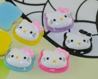 Mixed Color Resin Hello Kitty Cats Flat Back Cabochons T331