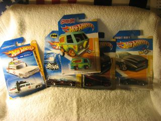 HOT WHEELS T.V. CARS~SCOOBY DOO~GHOSTBUSTERS~A TEAM VAN~K.I.T.T