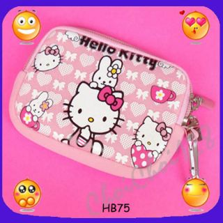 new hello kitty rabbit digital camera case bag cell phone