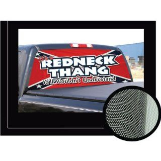 REDNECK HANG  16x54   Rear Window Graphic   compac pickup ruck