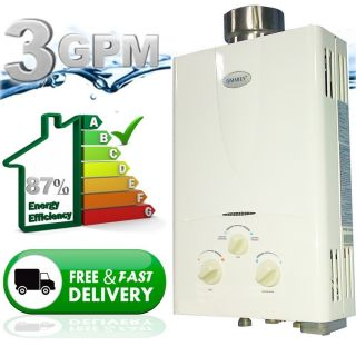 On Demand Propane Gas Tankless Hot Water Heater Whole House 3 1 GPM