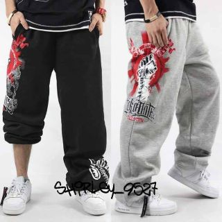 Mens Ecko Unltd Streetwear Hip Hop B Boy Loose Sweatpants Track Pants