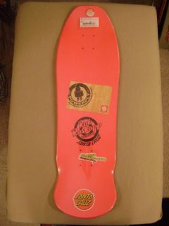 Santa Cruz Rob Roskopp Face Skateboard Deck Hot Pink