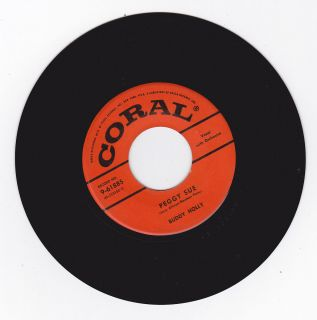 Classic 50s Rocker 45 Buddy Holly Peggy Sue Everyday Stamped